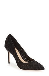 Imagine By Vince Camuto Women's 'Olivia' Macrame Pointy Toe Pump Black Macrame
