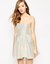 Boulee Hailey Strapless Diamon Print Skater Dress Diamond
