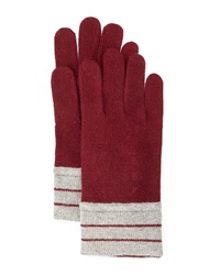 Portolano Minerva Striped Cuff Gloves Light Nile Espresso