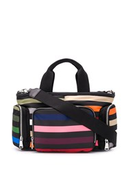 Sonia Rykiel Striped Tote Bag Black