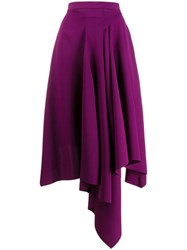 Chalayan Asymmetric Style Skirt Purple