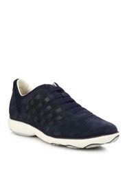 Geox Nebula Suede Intersect Sneakers Lake Med Blue Navy