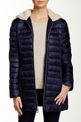 Nautica Faux Fur Lined Hooded Quilted Jacket