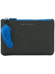 Orciani 'Soft' Clutch Bag Black