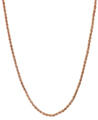 Macy's Seamless Rope Chain 24' Necklace In 14K Rose Gold