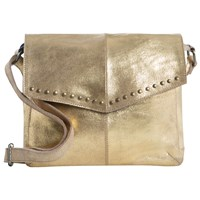 Pieces Vanity Leather Across Body Bag Gold