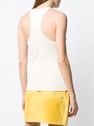 Ganni Ribbed Patch Pocket Vest Neutrals