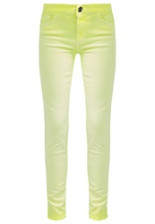 Giambattista Valli X 7 For All Mankind Slim Fit Jeans Blazing Yellow Neon Yellow
