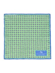 Chester Barrie Linen Flower Pocket Square Green