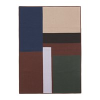 Ferm Living Shay Patchwork Quilt Blanket Cinnamon