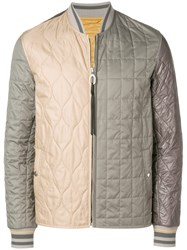 Lanvin Colour Blocked Jacket Nude And Neutrals