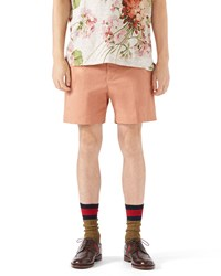 Gucci Stretch Gabardine Shorts Peach Pink Size 50