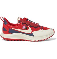 Nike X Undercover Gyakusou Zoom Pegasus 36 Trail Suede Trimmed Rubber And Mesh Running Sneakers Red