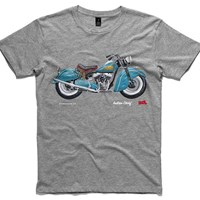 A To Z Of Motorcycles Indian Chief Motorcycle Men's T Shirt Multi
