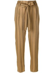 Forte Forte Pinstriped Trousers Neutrals