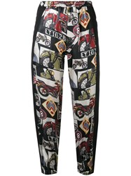 Hache Printed Cropped Trousers