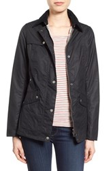 Women's Barbour 'Iona' Back Vent Waxed Cotton Jacket