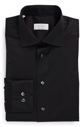 Eton Men's Big And Tall Contemporary Fit Solid Dress Shirt Black
