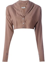 Romeo Gigli Vintage Shawl Collar Bolero Brown
