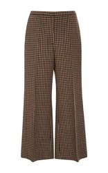 Rosetta Getty Flare Cropped Trousers Brown