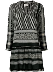 Cecilie Copenhagen Printed Shift Dress Black