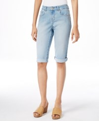 Styleandco. Style And Co. Embellished Curvy Fit Denim Bermuda Shorts Only At Macy's Blossom