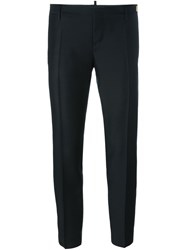 Dsquared2 Creased Cropped Trousers Black