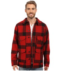 Filson Wool Mackinaw Cruiser Red Black Men's Coat