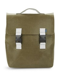 M R K T Carter Felt And Faux Leather Backpack Green