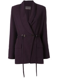 Ginger And Smart Orphic Drawstring Jacket Purple