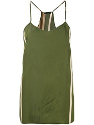 Roberto Collina Side Stripe Vest Women Nylon Acetate M Forest