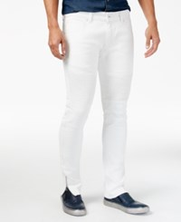 Inc International Concepts Men's White Wash Skinny Jeans Only At Macy's