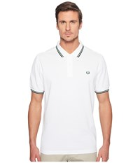 Fred Perry Slim Fit Twin Tipped Polo White Ivy Men's Short Sleeve Knit Gray