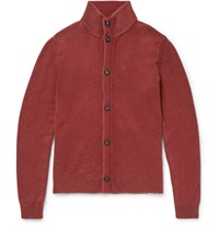 Massimo Alba Maimo Funnel Neck Cahmere Cardigan Red