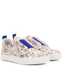 Pierre Hardy Slider Leather Sneakers Multicoloured