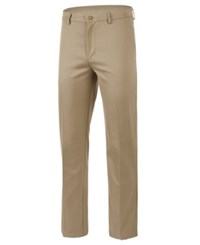 Greg Norman For Tasso Elba Men's Core Flat Front Pants Created For Macy's Dusty Willow
