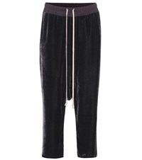 Rick Owens Velvet Trousers Purple