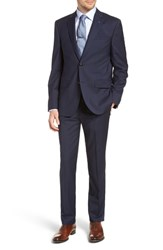 Ted Baker London Jay Trim Fit Solid Wool Suit Blue
