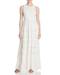 Aqua Tiered Maxi Dress White