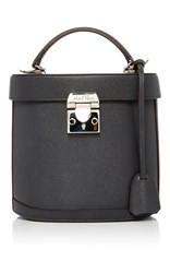 Mark Cross Benchley Saffiano Leather Bag Dark Grey