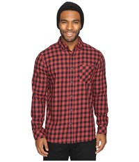 Rip Curl Checked Out Long Sleeve Woven Red Men's Clothing