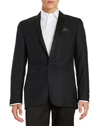 Tallia Orange Slim Fit Shawl Collar Blazer Black