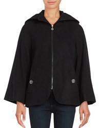 Betsey Johnson Wool Blend Cape Coat Black