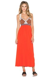Vpl Insertion Wide Maxi Dress Red