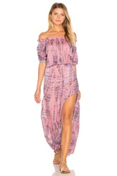 Tiare Hawaii Sage Off Shoulder Dress Pink