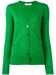 Tory Burch Button Up Cardigan Green
