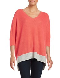 Splendid V Neck Dolman Sweater Coral