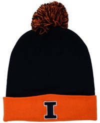 Top Of The World Illinois Fighting Illini 2 Tone Pom Knit Hat