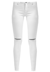 Dorothy Perkins Frankie Slim Fit Jeans Cream Off White