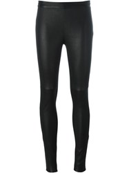 Philipp Plein Wax Effect Leggings Black